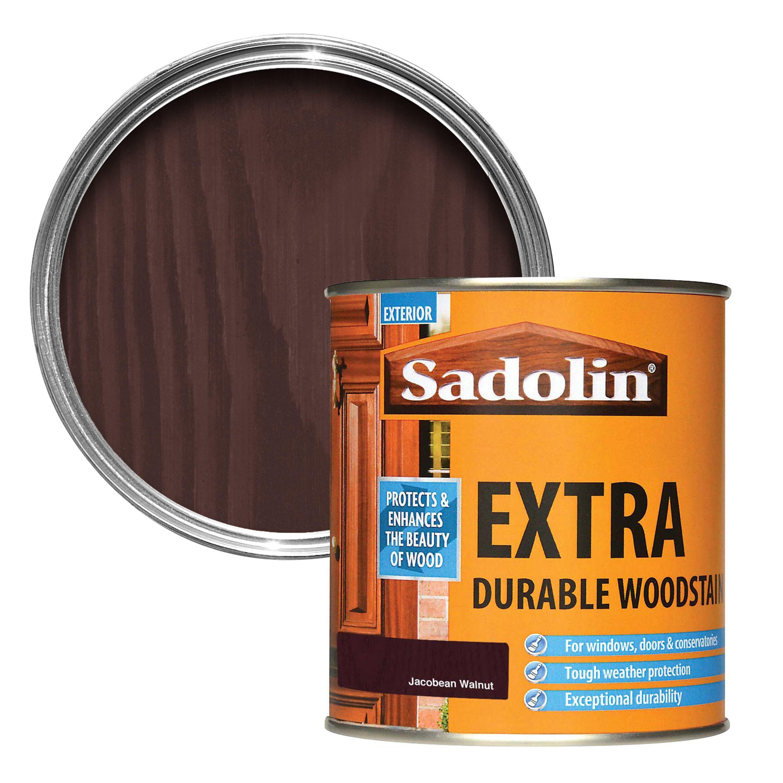 Sadolin Jacobean Walnut Woodstain 0 5l Departments Diy At B Q