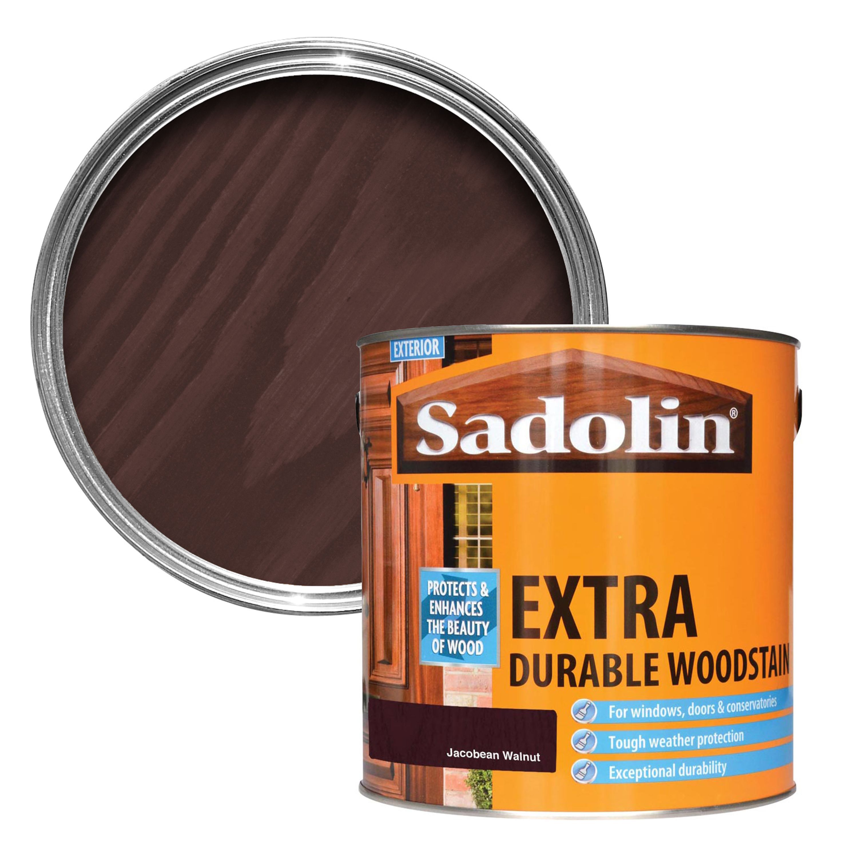 Sadolin Jacobean Walnut Woodstain 2 5l Departments Diy At B Q