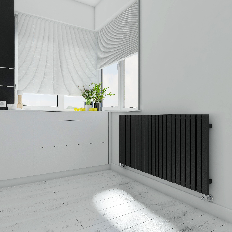 Terma Winchester Horizontal Radiator Metallic Black Textured,