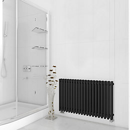 Terma Tune Horizontal Radiator Metallic Black Textured, (H)600