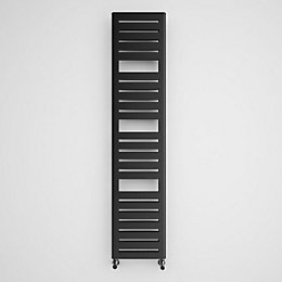 Terma Salisbury Metallic Black Towel Radiator (H)1360mm (W)300mm