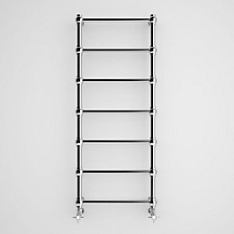 Terma Retro Galvanic Brushed Nickel Towel Rail (H)1170