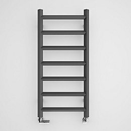 Terma Crystal Modern Grey Towel Radiator (H)840mm (W)400mm