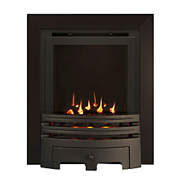 Westerly Glass Fronted Black Inset High Efficiency Multiflue