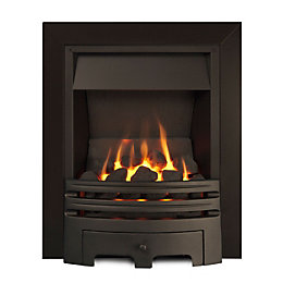 Ignite Westerly Open Fronted Black Inset Multiflue Gas