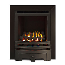 Westerly Chrome Inset Open Fronted Full Depth Gas