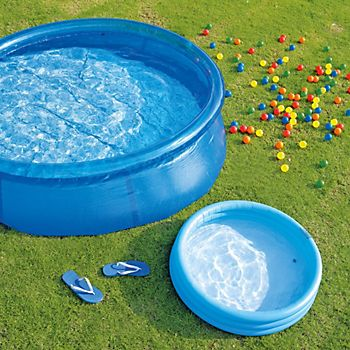 Bestway Fast Set paddling pool in garden