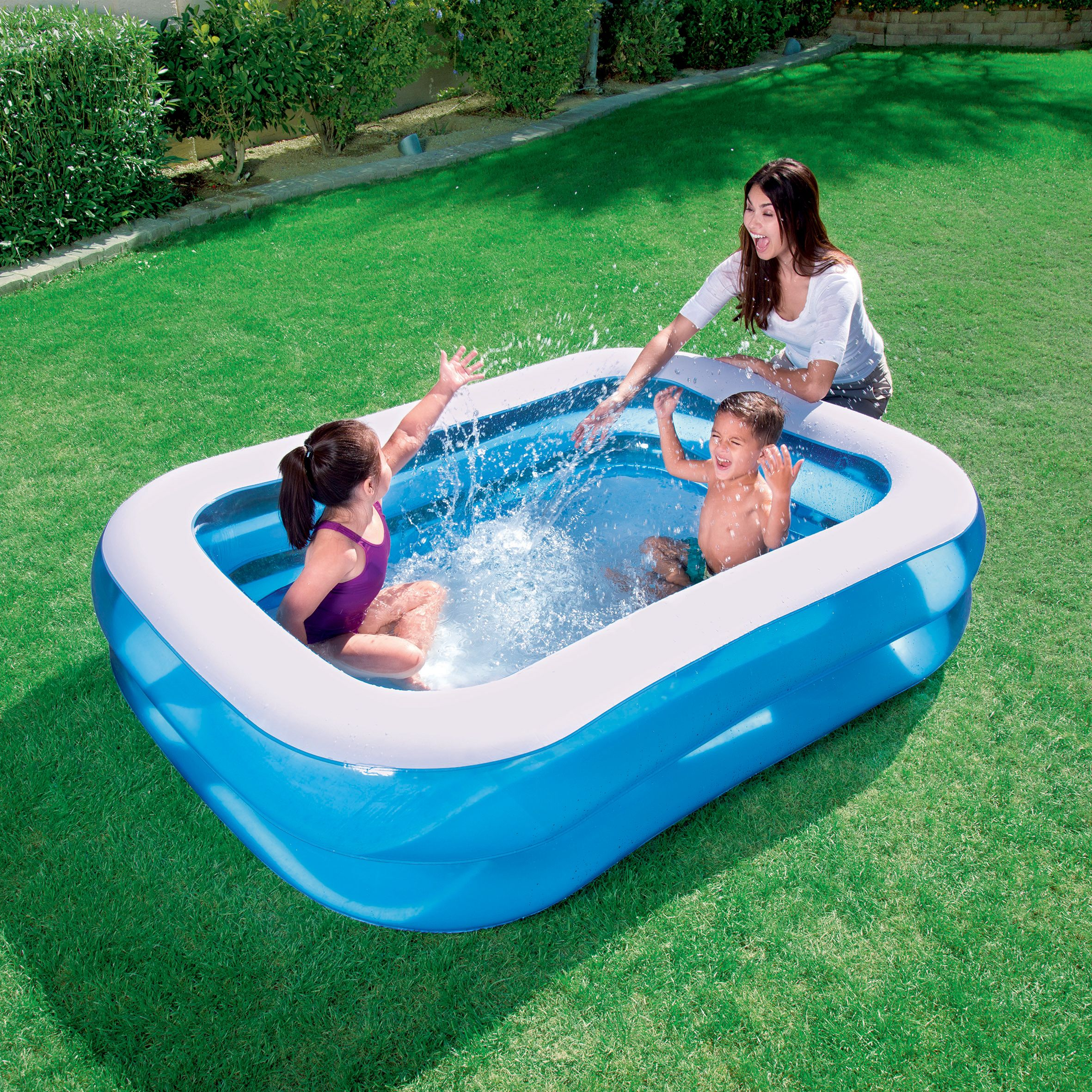 Bestway rectangular plastic family swimming pool x 1 - Bar gonflable pour piscine ...