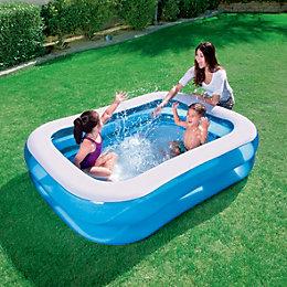 Bestway Rectangular Plastic Family Swimming Pool 2.01 x
