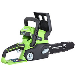 Greenworks GWG24CSK2 Cordless Lithium-Ion Battery Chainsaw