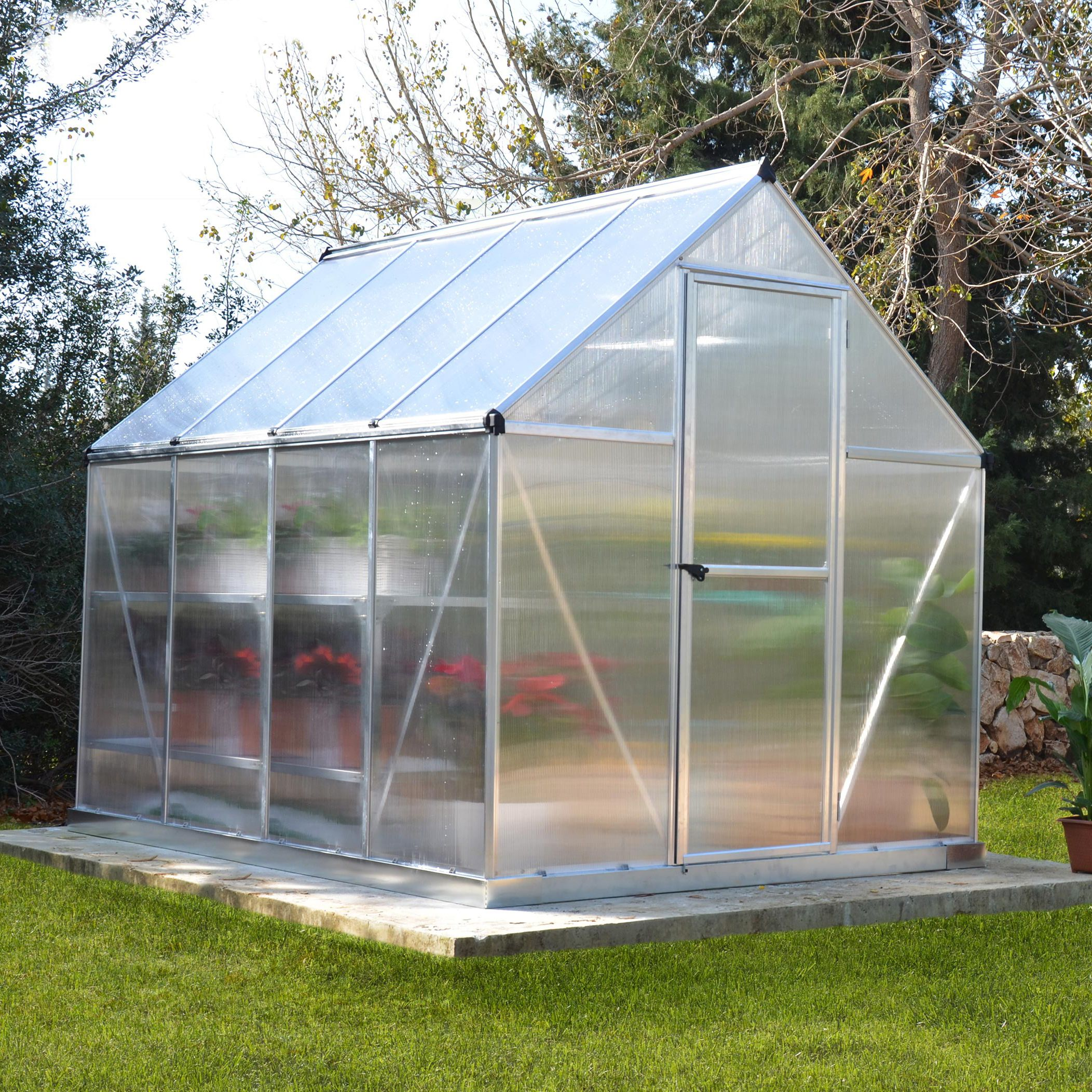 Palram Mythos 6x8 Polycarbonate Greenhouse Departments