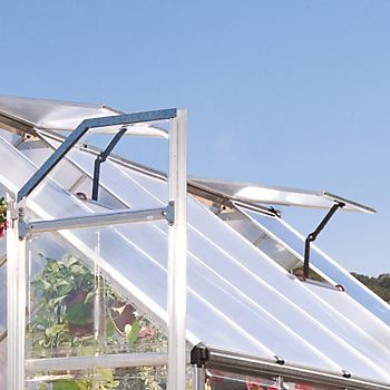 Polycarbonate panel glazed greenhouse