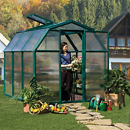 Rion Eco Grow 6X6 Acrylic Glass Twinwall Greenhouse
