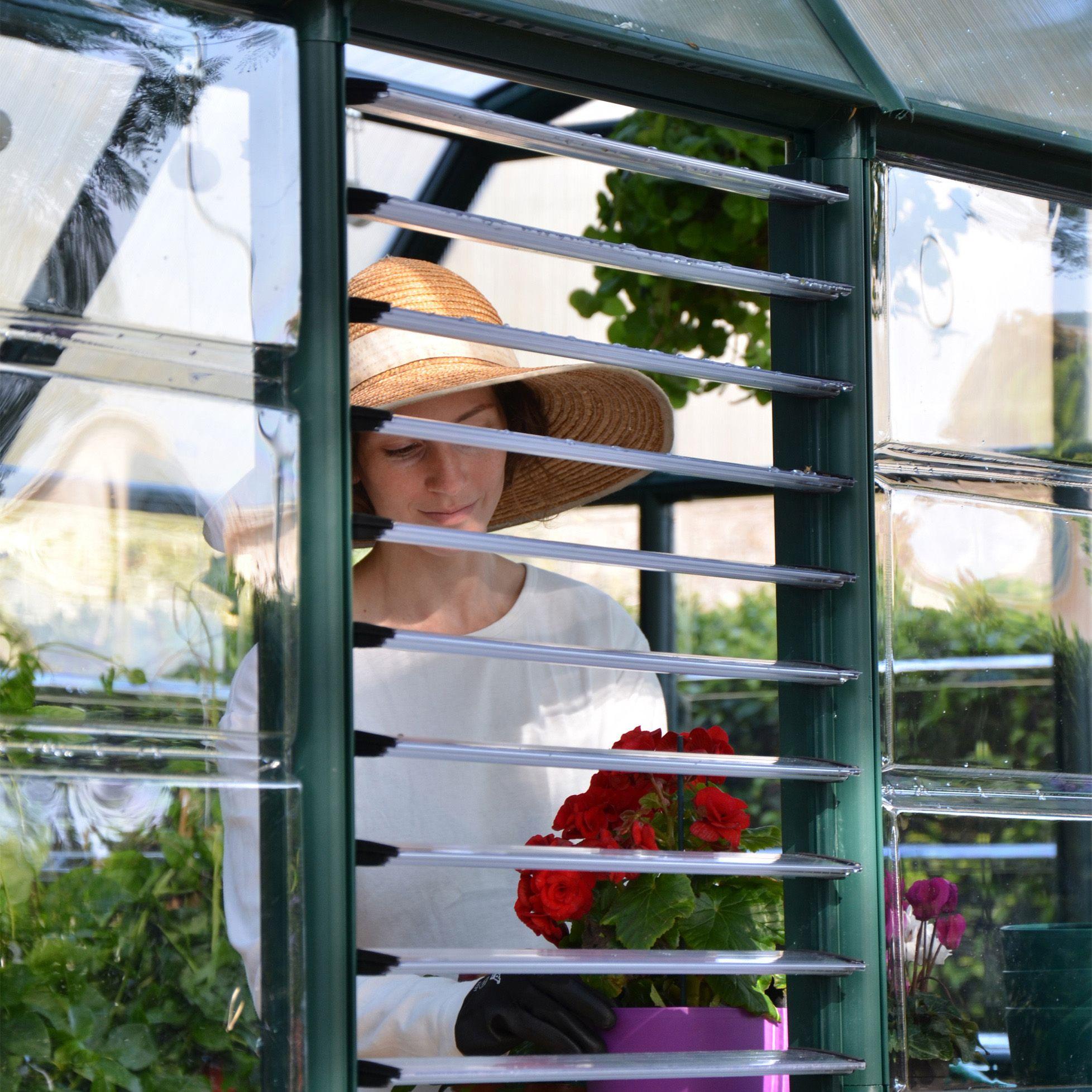 Palram Plastic Greenhouse Side Louvre Window Departments