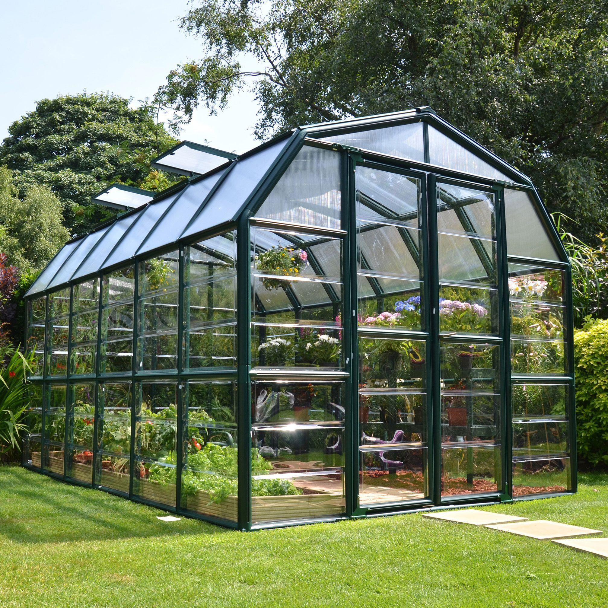 Rion Grand Gardner 8x12 Acrylic Glass Greenhouse