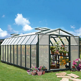 Rion Hobby Gardner 8X20 Acrylic Glass Twinwall Greenhouse