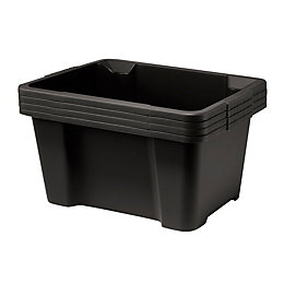 Keter Black Plastic Storage Box, Pack of 4