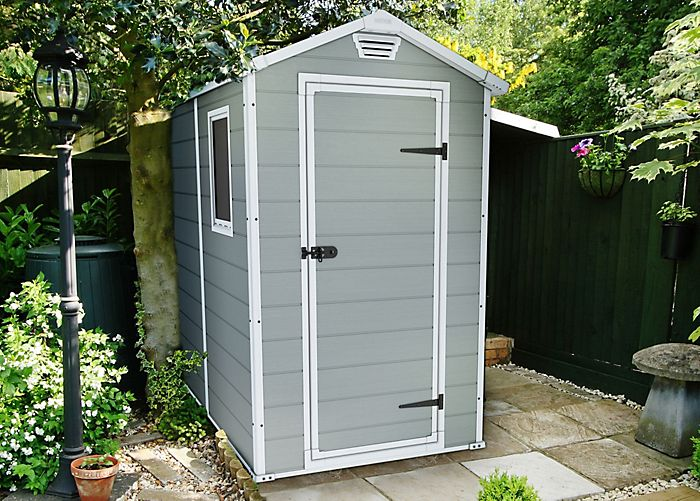"""6X4 Manor Apex Double Resin Wall Plastic Shed"""