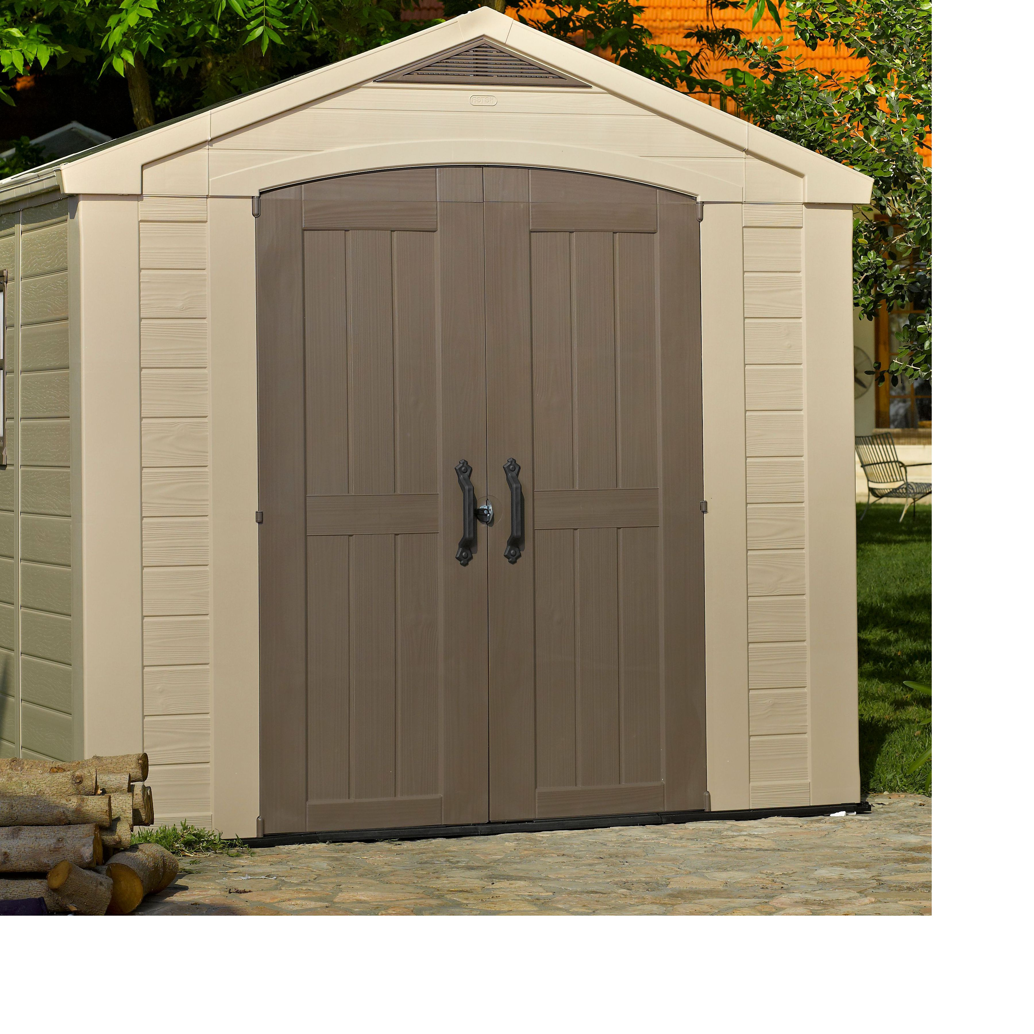 Garden Sheds B Q 8x6 factor apex plastic shed | departments | diy at b&q