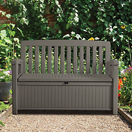 Plastic Garden Storage Bench Box