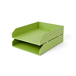 Green Cardboard Letter Tray, Pack of 2