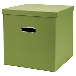 Green Recycled Board Storage Cube Box