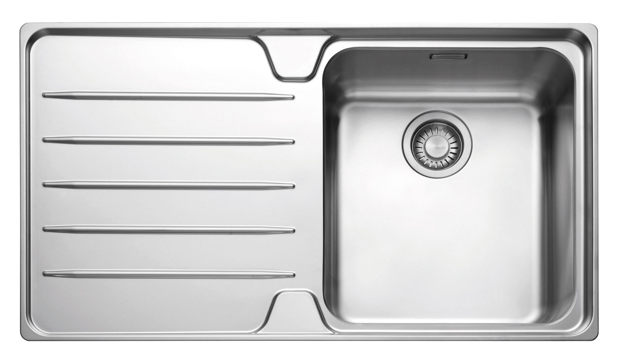 Franke laser 1 bowl polished stainless steel single kitchen sink departments diy at b q - Bq kitchen sinks ...