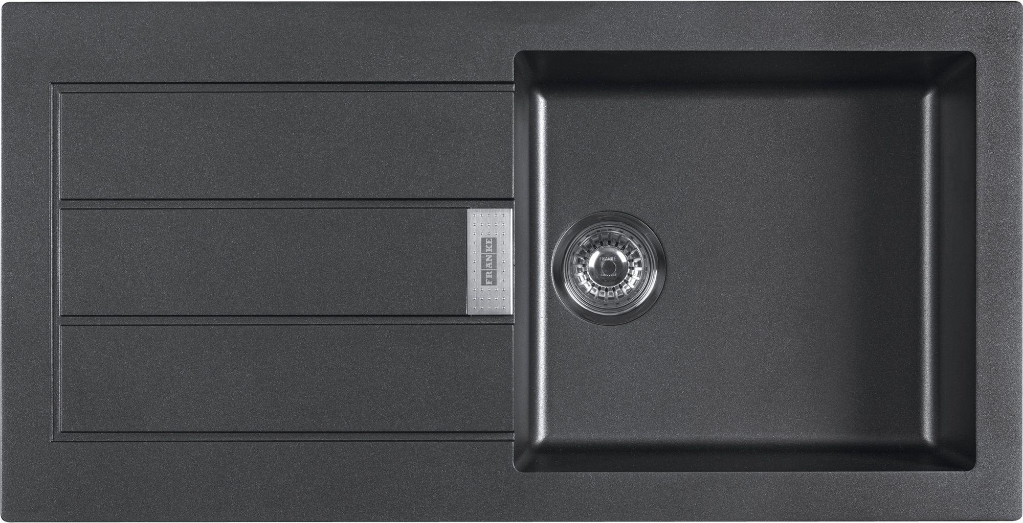 Franke Black Composite Sink : Franke Sirius 1 Bowl Black Composite Single Kitchen Sink