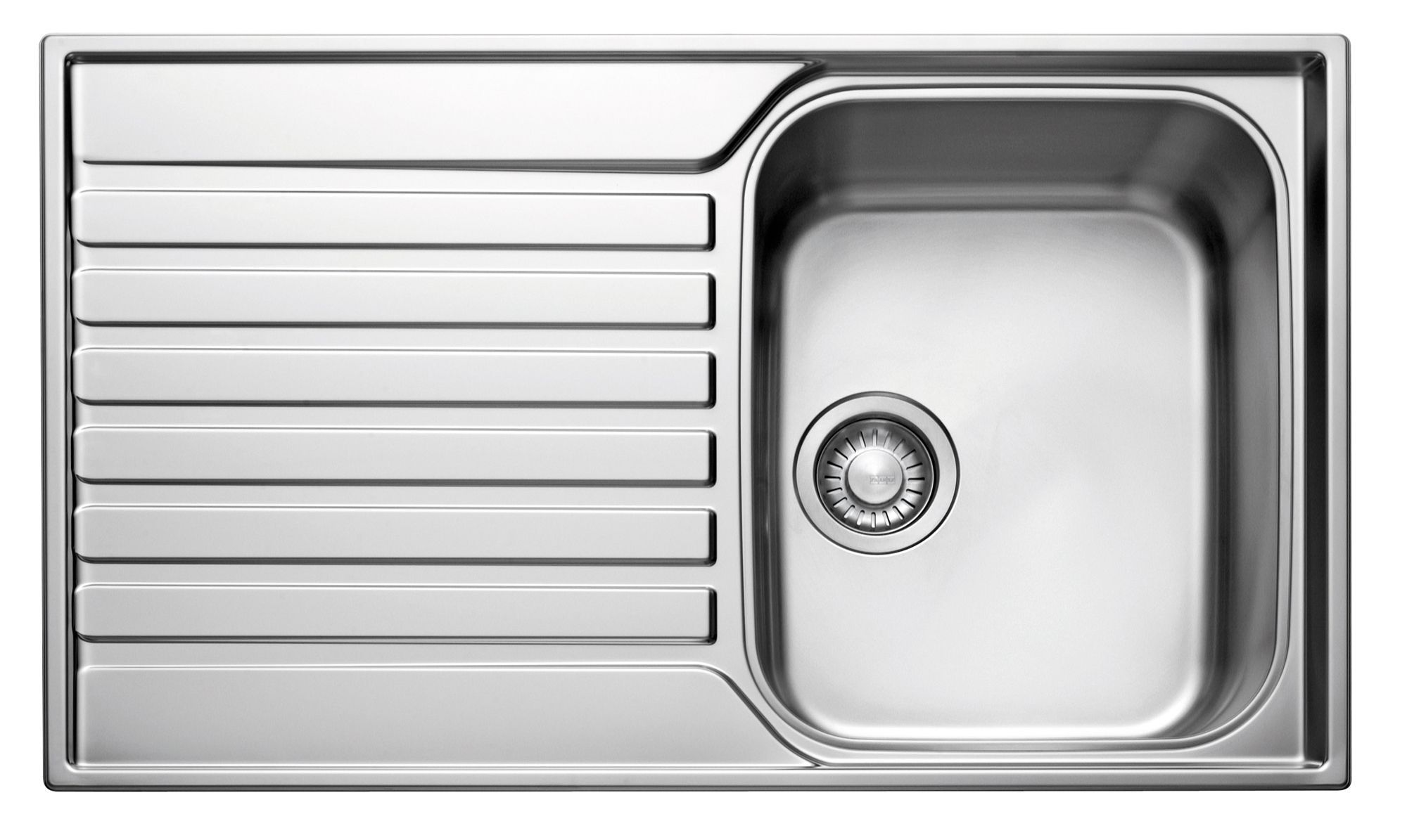 franke ascona 1 bowl polished stainless steel sink u0026 drainer departments diy at bu0026q