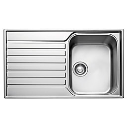 Franke Ascona 1 Bowl Polished Stainless Steel Sink