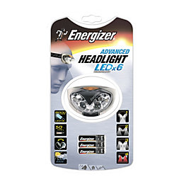 Energizer Advanced 80lm Plastic LED Grey Headlight