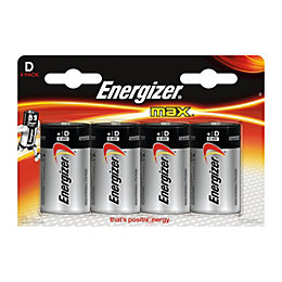 Energizer Electronics Single Use D Alkaline Batteries, Pack