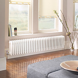 Acova 4 Column Radiator, White (W)628mm (H)300mm