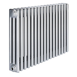 Acova 3 Column Radiator, Silver (W)812 mm (H)600