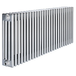 Acova 4 Column Radiator, Silver (W)1226mm (H)600mm