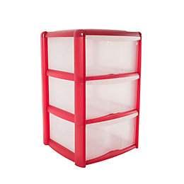 B&Q Red Plastic Tower Unit