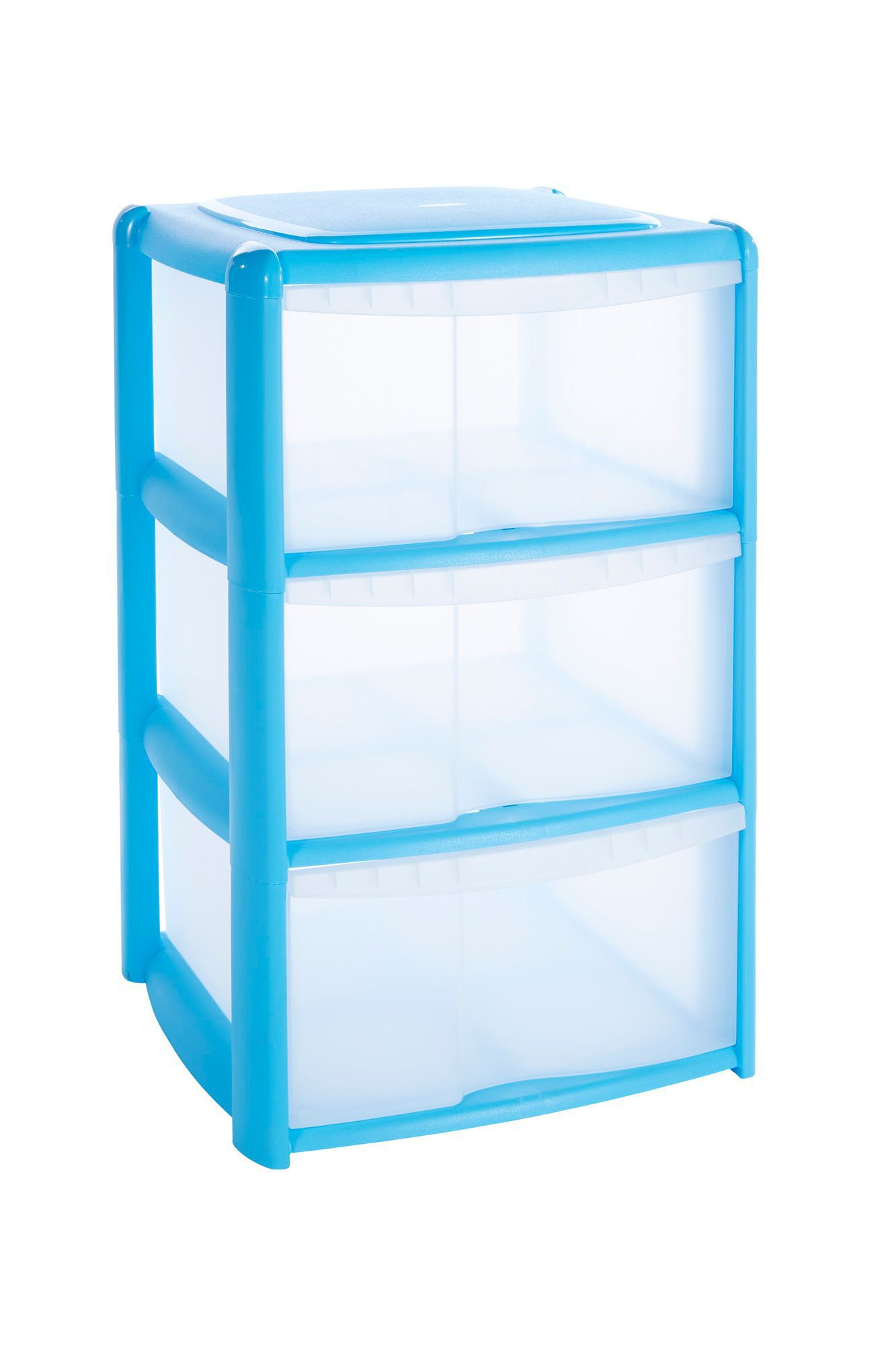 B&q Blue Plastic Drawer Tower Unit