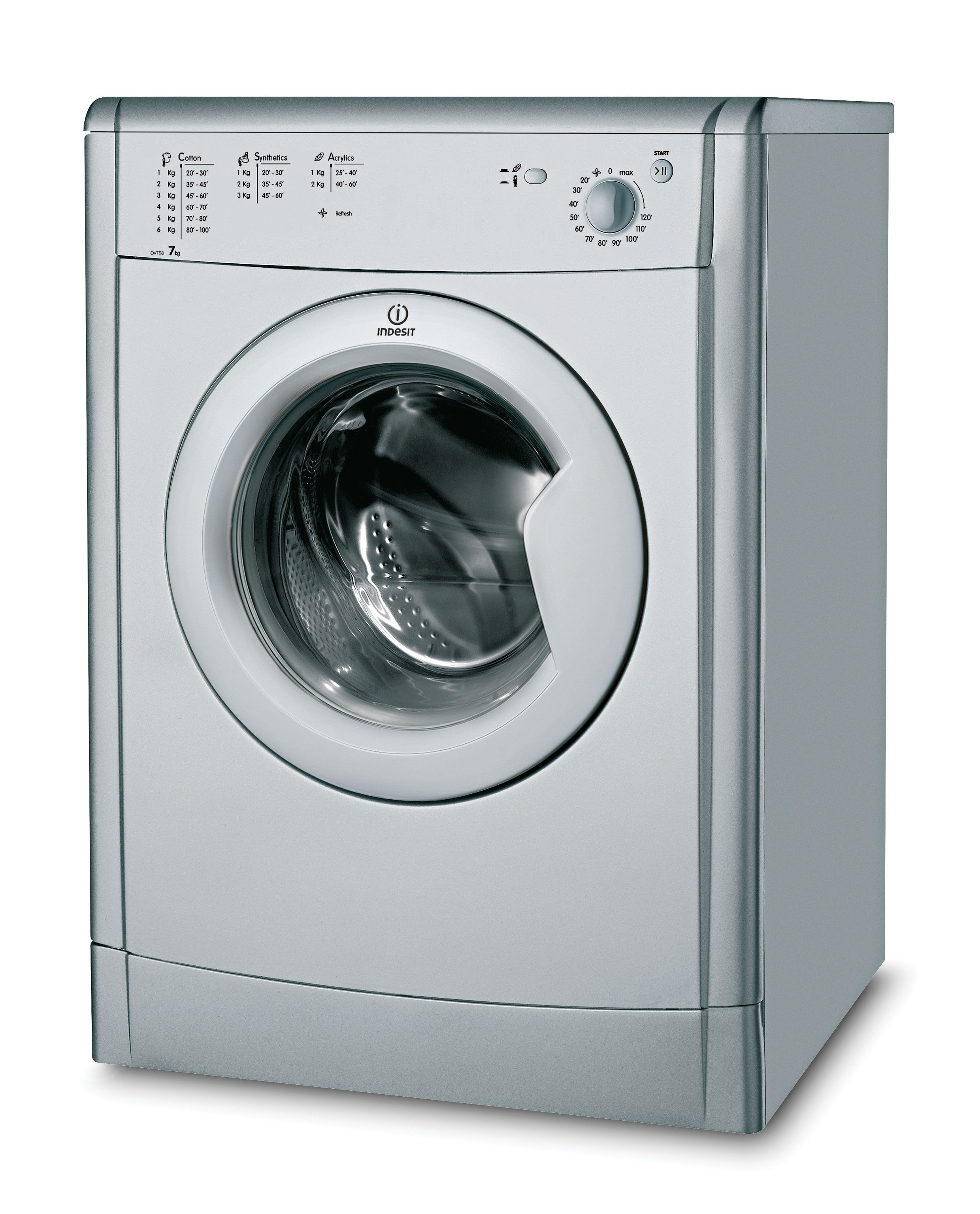 Animated Tumble Dryer ~ Indesit idc s uk silver freestanding vented tumble dryer