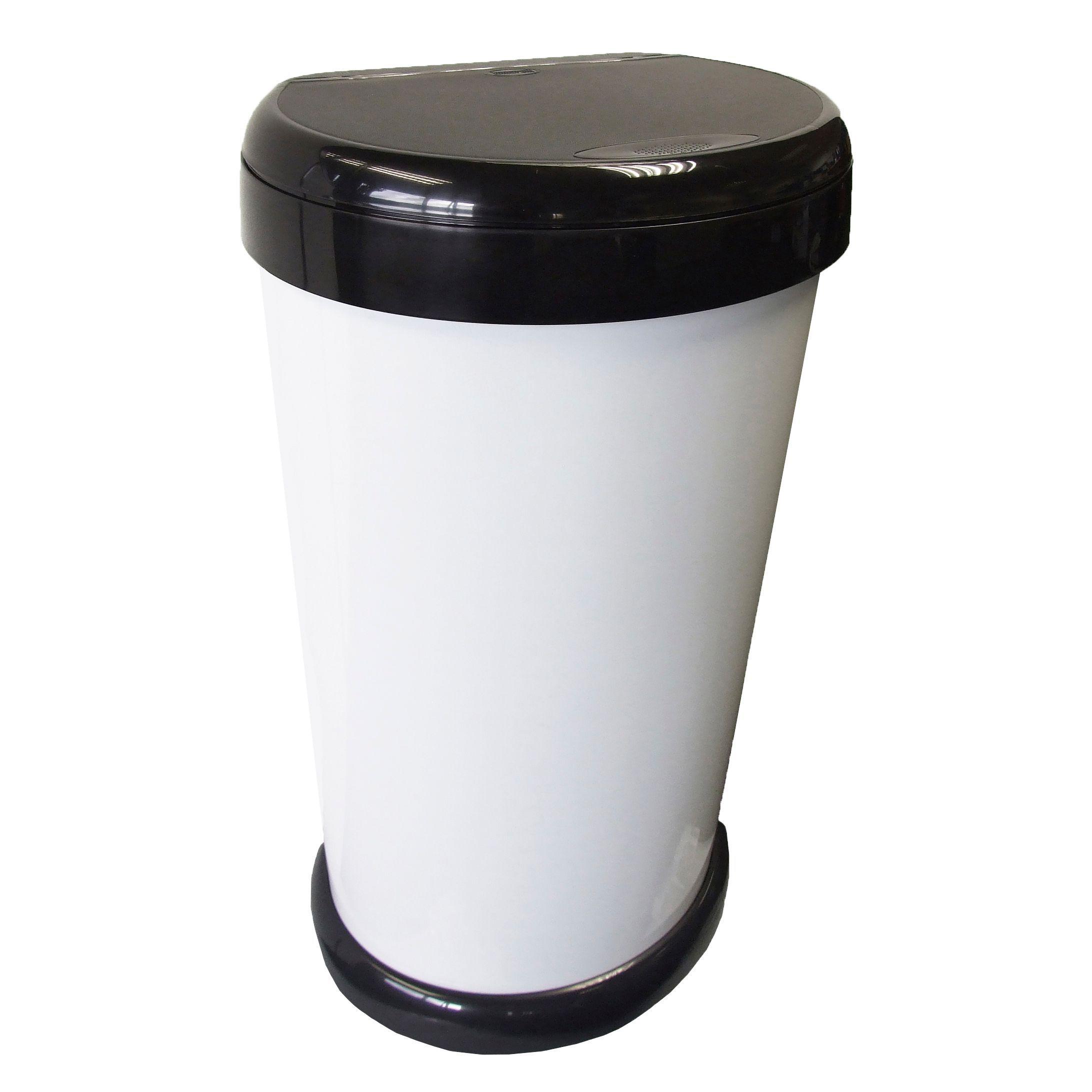 White Kitchen Bin Part - 32: Tontarelli Moda White Plastic Touch Top Kitchen Bin 42L | Departments | DIY  At Bu0026Q