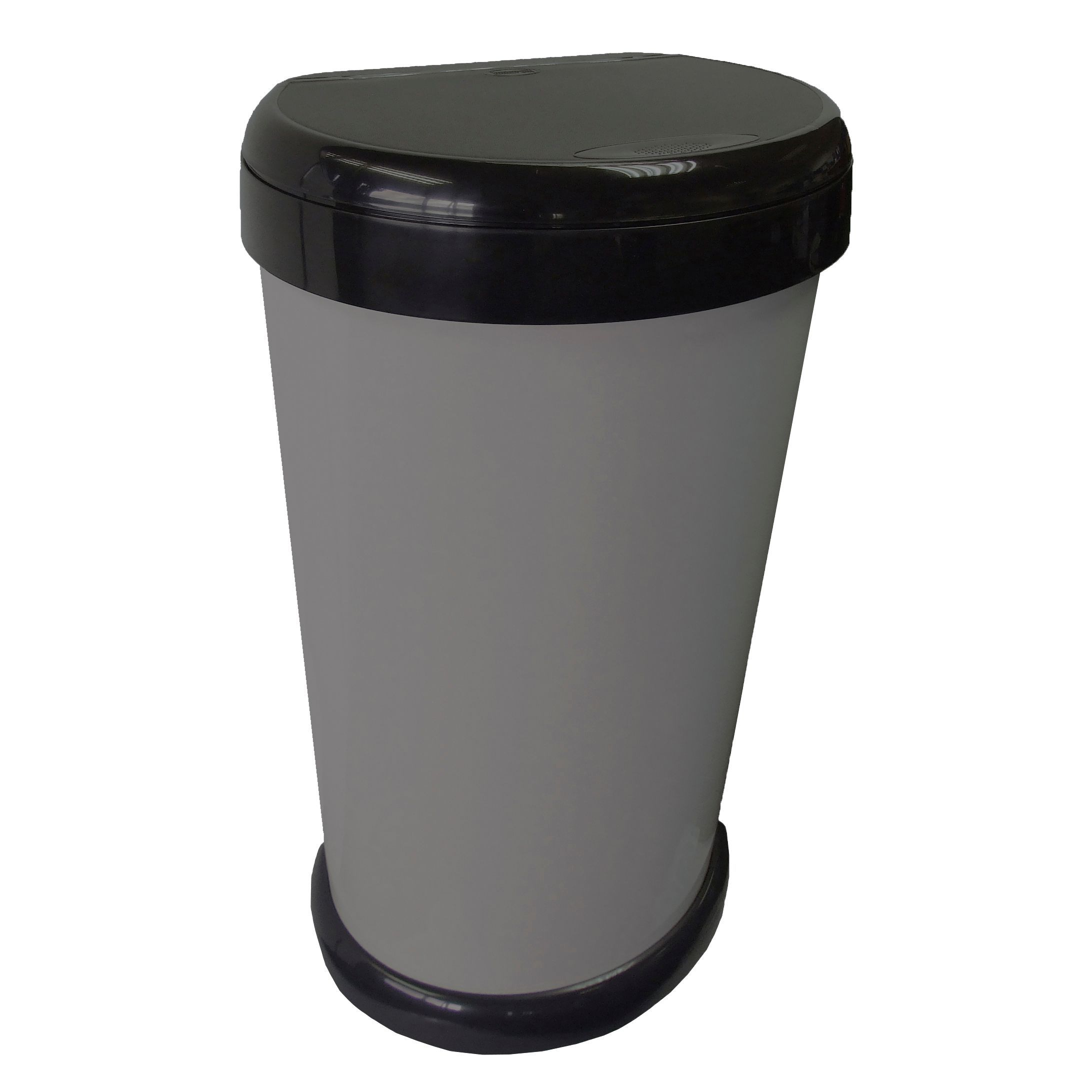 Tontarelli Moda Anthracite Plastic Touch Top Kitchen Bin,