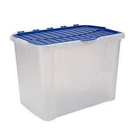Clear 60L Plastic Storage Box