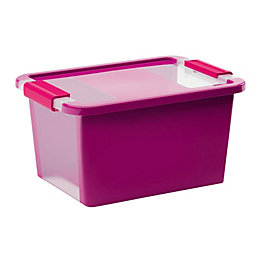 Kis Bi Box Purple 11L Plastic Storage Box