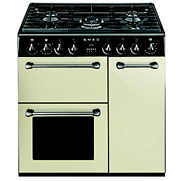 Smeg Kitchen Dual Fuel Cooker with Gas Hob,