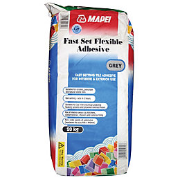 Mapei Fast Set Powder Flexible Adhesive, Grey 20kg