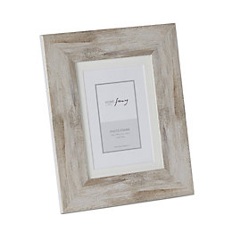 Grey Washed Wood Picture Frame (H)25.2cm x (W)20.2cm