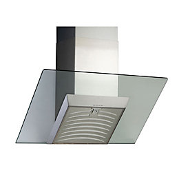 Designair AGS60SS Stainless Steel Angled Glass Cooker Hood,