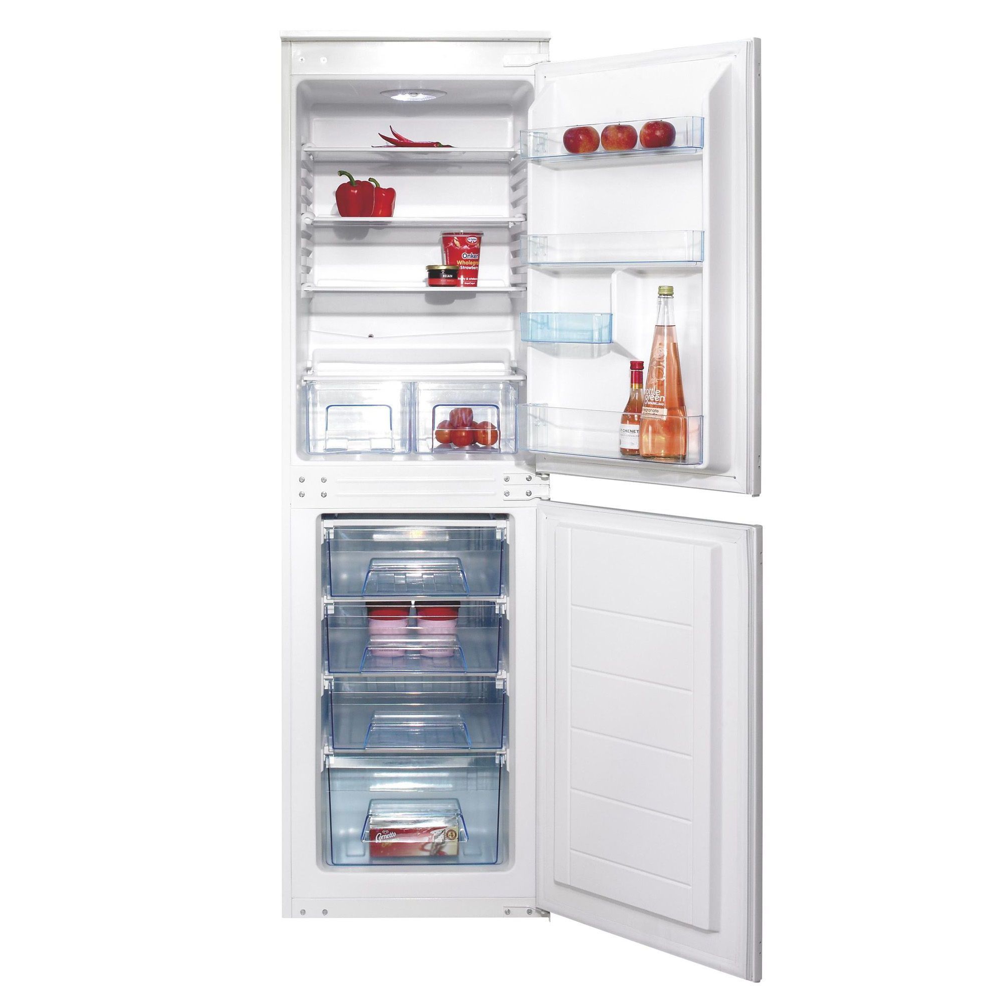 cata biff50a white integrated fridge freezer departments diy at bu0026q