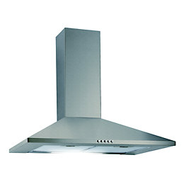 Cata CHSV60 Silver Effect Chimney Cooker Hood, (W)