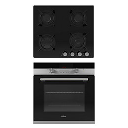 Culina CD650 & TPGG60 4 Burner Black Glass