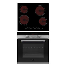 Culina 4 Burner Black Glass & Stainless Steel